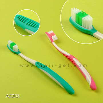 95% Positive Feedback FDA Approved Adult Toothbrush with Tongue Cleaner A1004