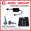 38w 5000lm high power factory price H4 H7 H8 H9 car led headlight replace hid xenon