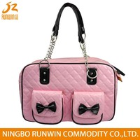 European Standard Colorful Stylish PU Leather pet carrier