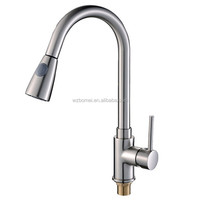 Hot sale in American market nickel brushed pull out sink faucet for kichen