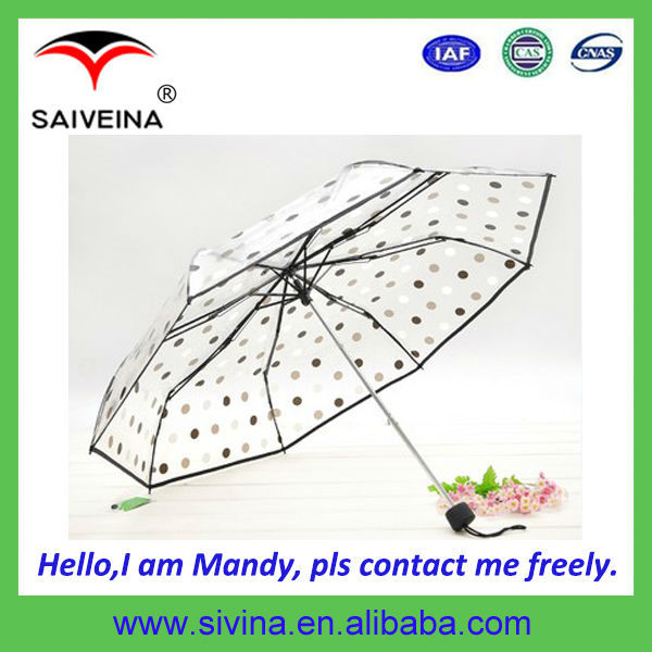 wholesale cheap transparent poe material umbrella