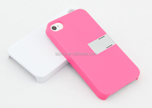 Hard PC Rubber Kickstand cover cases for Apple iphone 4