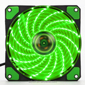 12V dc fan green led 120mm pc case fan
