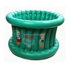 portable mini cute round inflatable baby bath tub for travel