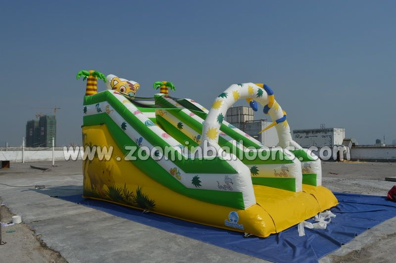 Top sale cartoon inflatable water slide Z3051