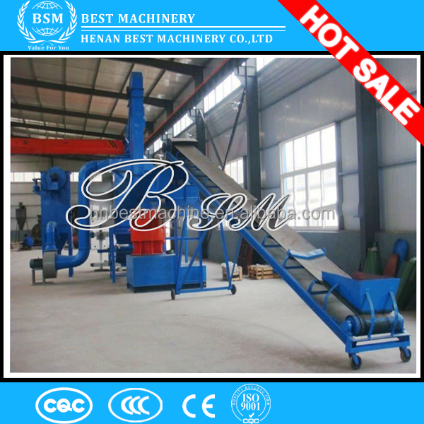 Wood and plastic waste pellet making plant/wooden pellet making production line with high quality in low price