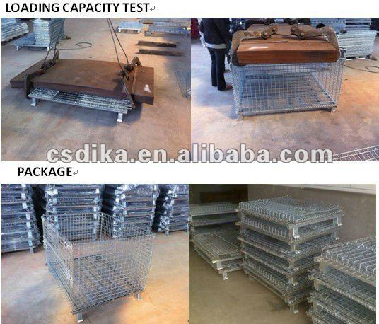 pallet cages with 4 PU wheels