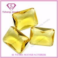 Octagon Princess Cut Yellow Topaz Glass Gemstone Manufacture Price