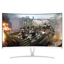 "DETAIK 24 Inch LCD PC Gaming Monitor Full HD 24"" IPS Panel LED Curved Desktop Computer Monitor"
