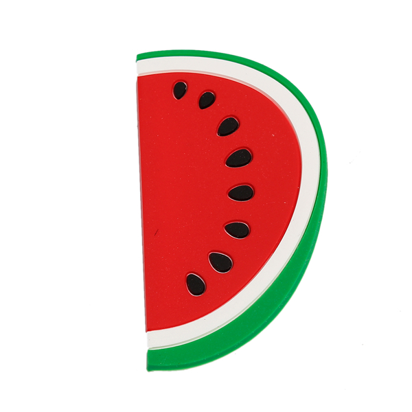 PVC Watermelon Fruit Multicolor Fancy 3D Fridge Magnet