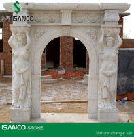 White Travertine Fireplace Indoor Stone Fireplace