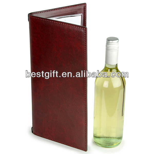 brown leather elegant restaurant menu covers