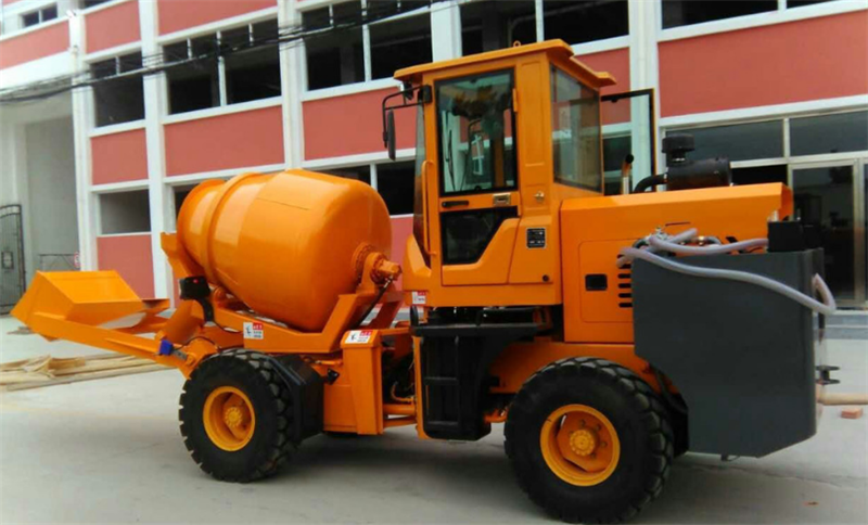 Hongda truck 3.5 cbm self loading concrete mixer truck for sale