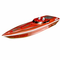 Fast electric rc boat Lightning 1300BP RTR Pistol Transmitter
