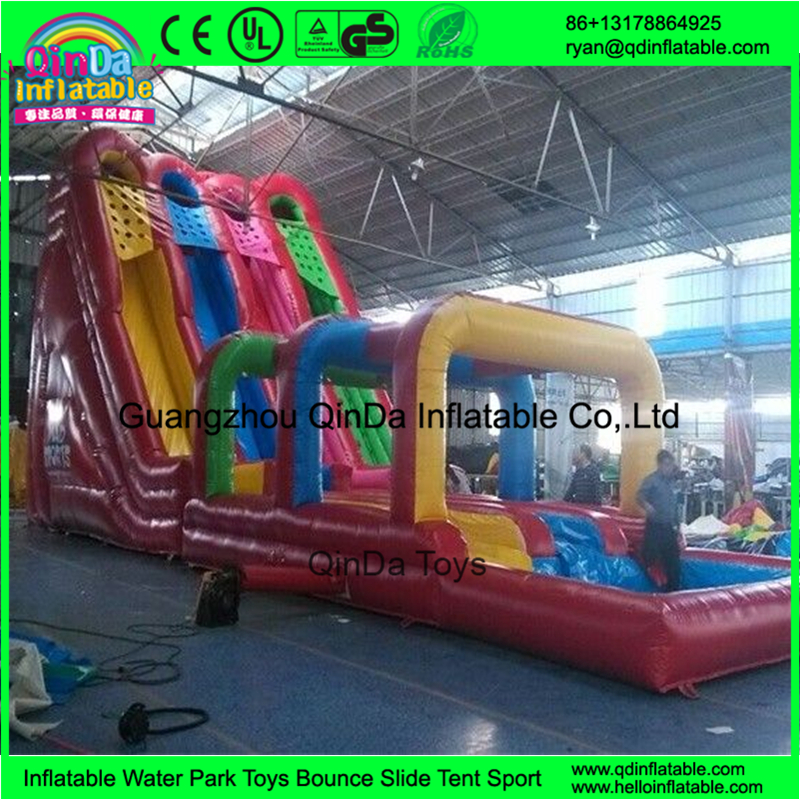2016 Summer Fashionable Children and Adults PVC Inflatable Water Slides With Small Pool
