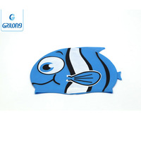 Fashionable Durable Waterproof Colorful Quality Adult / Kid sizes customized logo printed waterproof silicone swimming cap