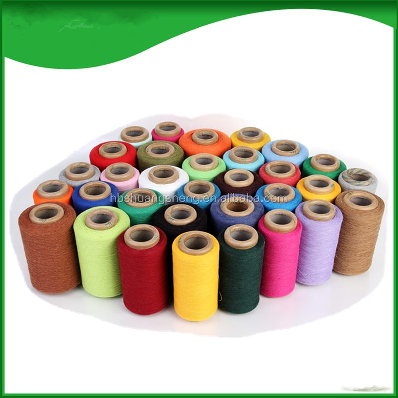 production line 65% cotton 35% polyester blended 6s blanket yarn