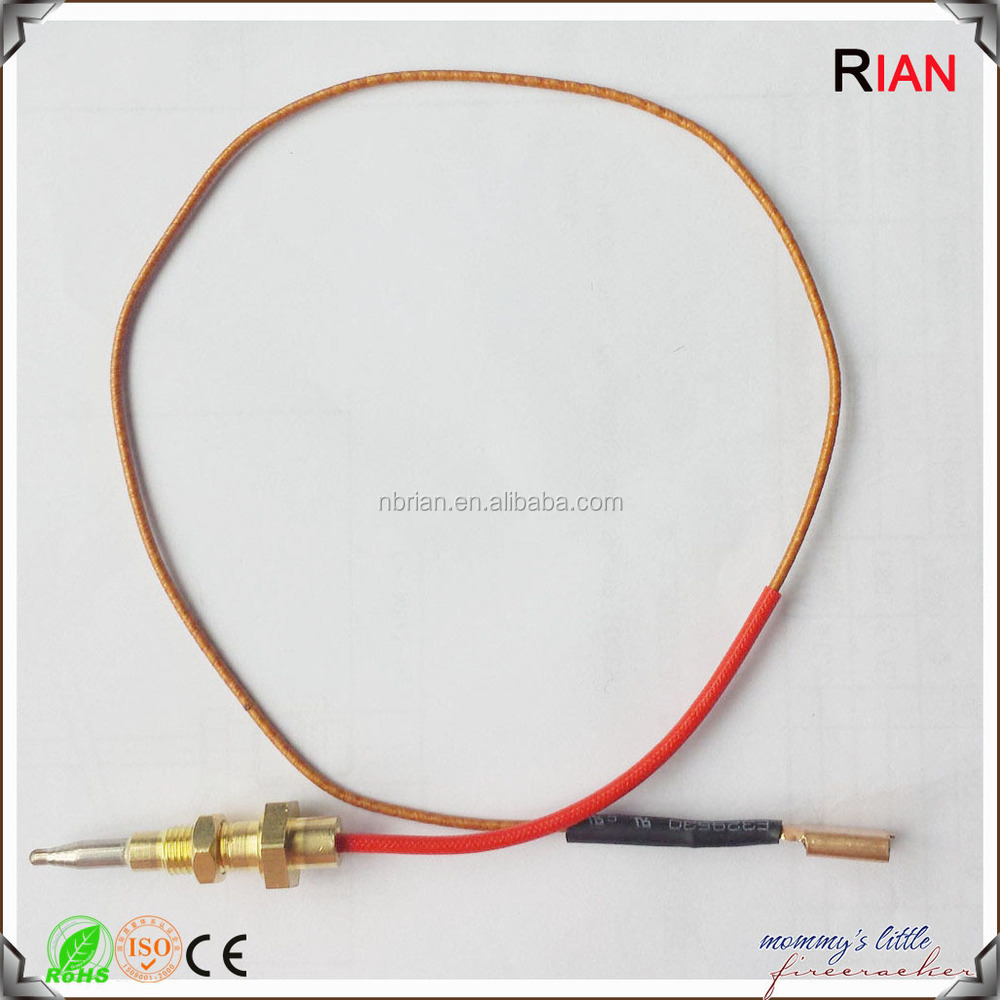 Gas stove thermocouple with one Nut and good quality RBYJH-K