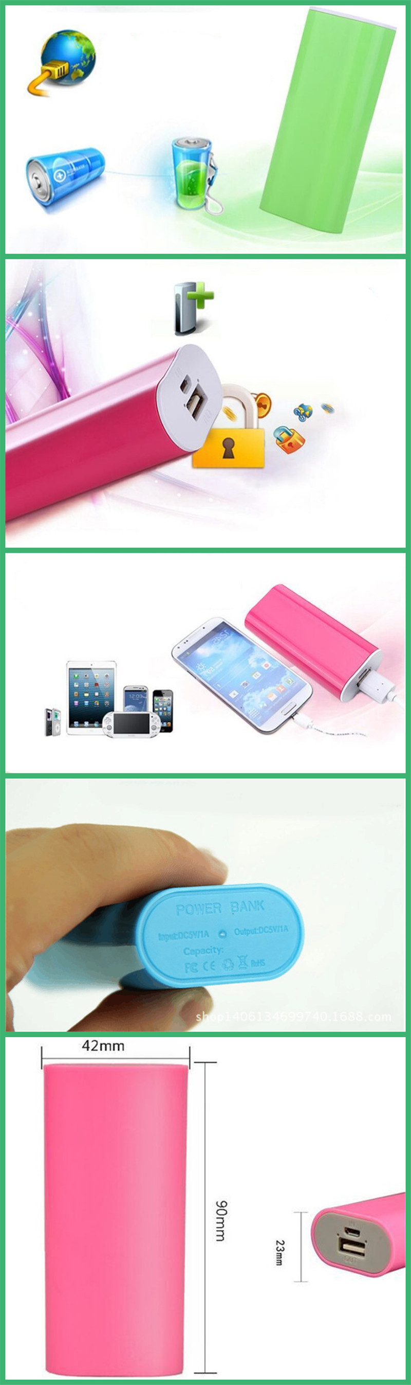 Portable Keychain Mini Battery Charger With Power Bank Model JEC-022PB