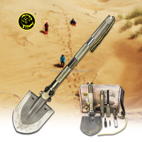 New Idea High-Carbon Steel Outdoor Digging Tools Camping Outdoor Multifunction Shovel