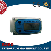 Chemical Water Use Plastic Digital Turbine Oil Flow Meter