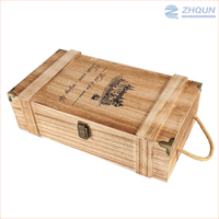 Stamping Logo wooden wine bottle carrying case