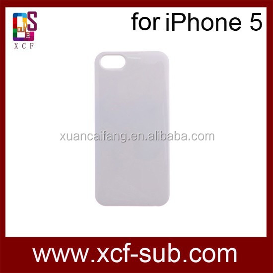 3d sublimation cases for iphone5/5s,hard 3d sublimation cover
