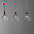 stripe cone shape borosilicate glass pendant lamp shade
