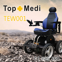 4 Wheels Drive Power Handicapped Electric Wheelchair Used on Beach