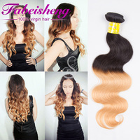 7a Spiral Curl 100% human Ombre Body Wave, Ombre Bundles Hair Weaves