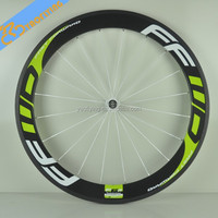 lightweight 700c carbon road bike wheels,Beautiful carbon bicycle wheels light green FFWD high-profile carbon wheels on sale