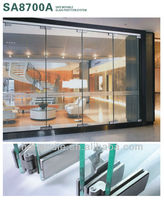 Frameless sliding glass doors with 10/12 thick clear tempered glass