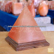 Himalayan Salt Lamp, Pyramid Shape Rock Salt, Negative Ions Generator