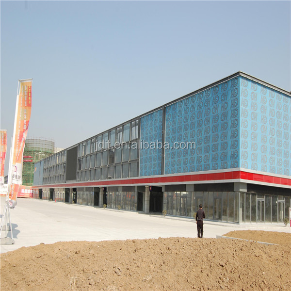 steel construction design prefabricated steel structure shopping center
