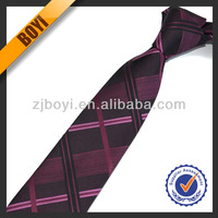 Colorful Polyester Mens Check Necktie Manufacturers