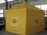 Folding canopy tent made by hexagon aluminum frame, pop up system to set up easily, 600D polyester waterproof fabric