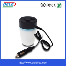 Products Contact Supplier Chat Now! 3.1A Dual USB Ports Car Charger Cup Holder Mount Quick Charger with 2 Sockets Volt