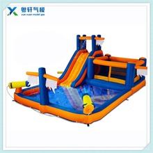 3 in 1 jumping castle with slide and pool/inflatable water slide pool bouncer with jumping safe for kids