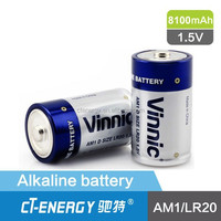 LR20 1.5v vinnic alkaline battery AA/AAA/C/D size with no HG