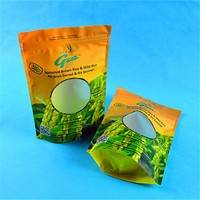 zip lock biodegradable plastic empty tea bag packing