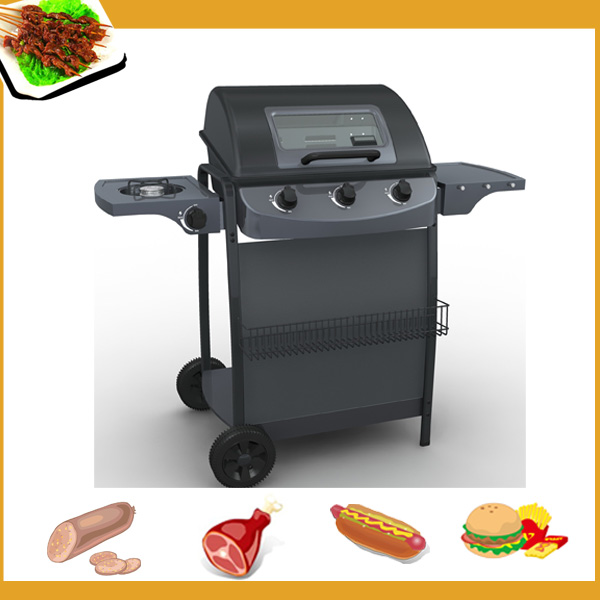 stainless steel grill chef bbq, gas barbecue oven