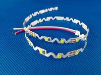 Hot sale waterproof s-shape smd 5050 rgb led strip for signboard