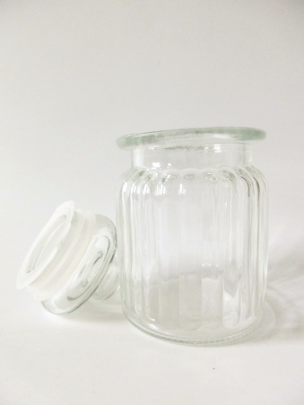 8oz kitchen clear glass canned food empty storage jar