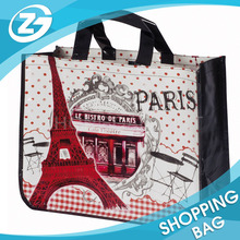 Laminated Recycle PP Woven Custom Round Bottom CornerTote Shopping Bag