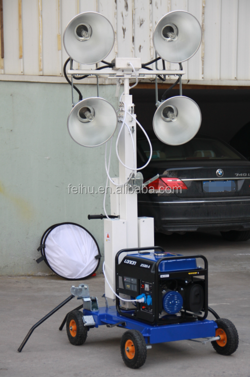 led lamp diesel generator mobile light tower