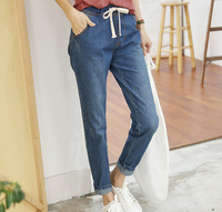 W31009H 2015 fashion elastic waist jeans women harem jeans wholesale