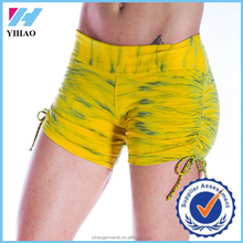 Dongguan Yihao 2015 custom women gym shorts bodybuilding wear booty shorts wholesale