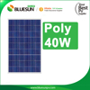 Bluesun good price hot sale poly 40w pv solar module and solar panel