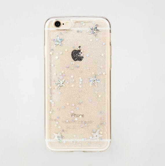 for iPhone 7 Sparkling star case, for iPhone 7 Glittering tpu case snowflake design