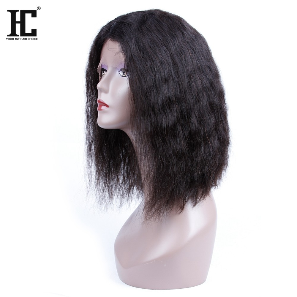 short bob weave brazilian virgin human hair lace frontal human hair wigs for black women